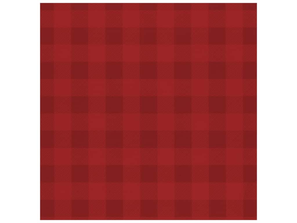 Bazzill Cardstock 12 x 12 in. Plaid Wax Lips (25 pieces)
