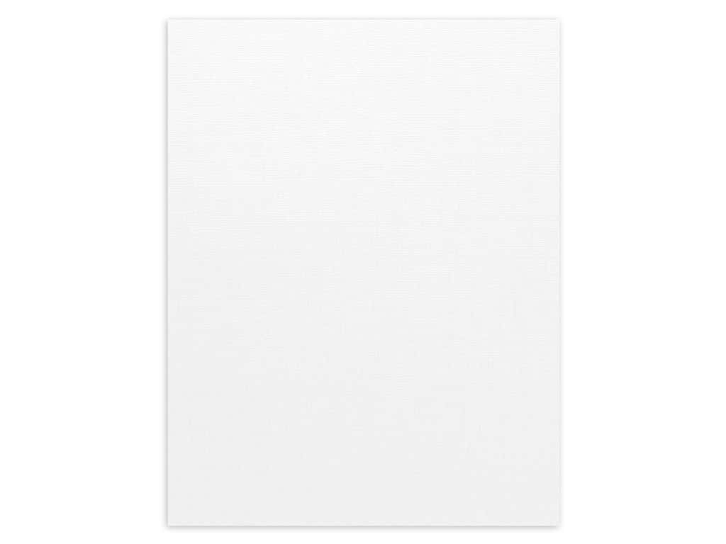 Bazzill Cardstock - 8 1/2 x 11 in. - Canvas White (25 sheets)