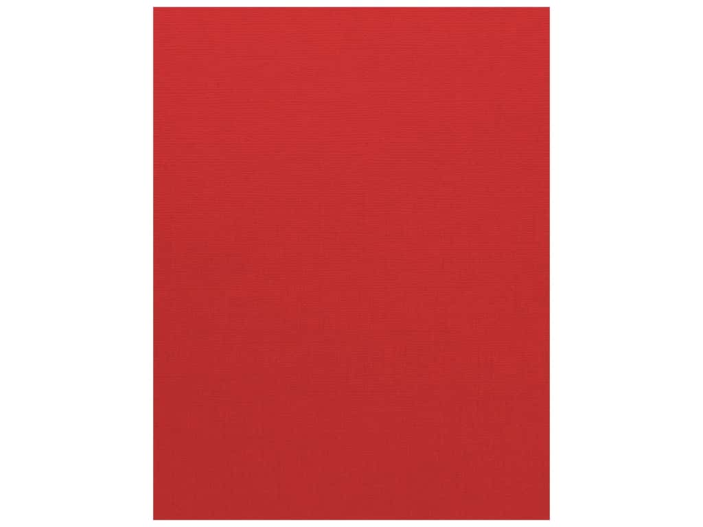 Bazzill Cardstock 8 1/2 x 11 in. Canvas Bazzill Red (25 sheets)