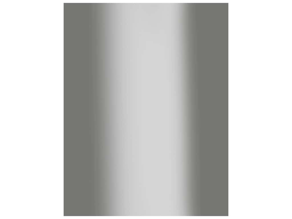 Bazzill Cardstock 8.5 in. x 11 in. Foil Silver (15 pieces)