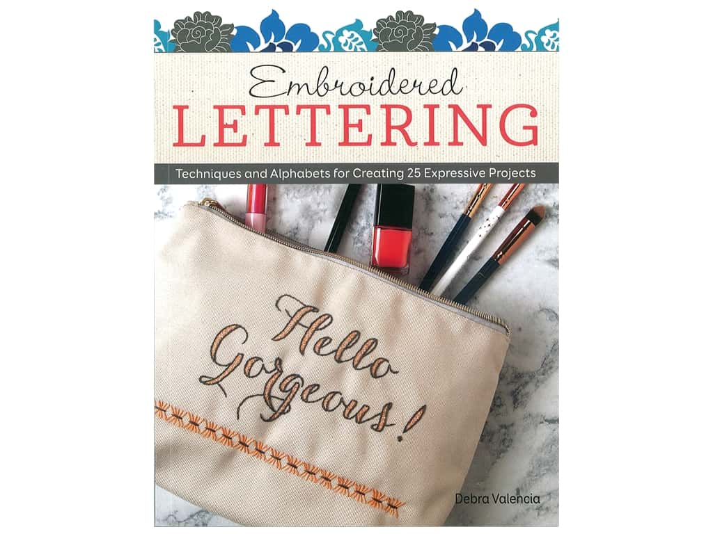 Design Originals  Embroidered Lettering Book