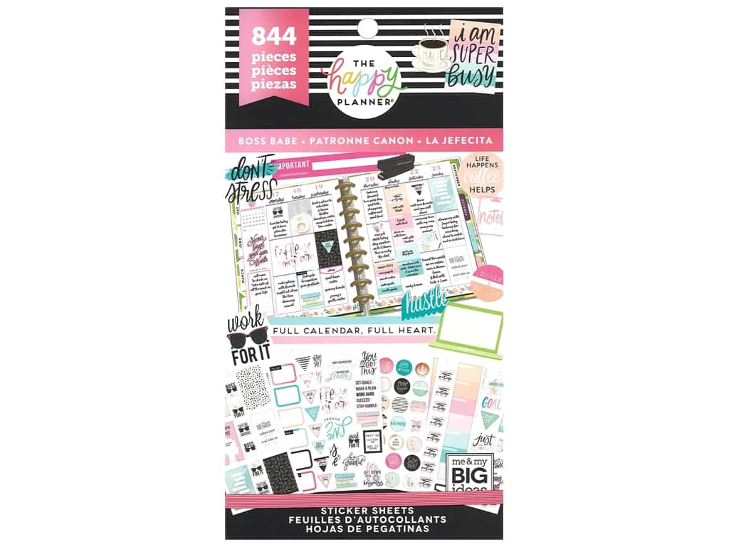 Me&My Big Ideas Happy Planner Sticker Value Pack Boss Babe