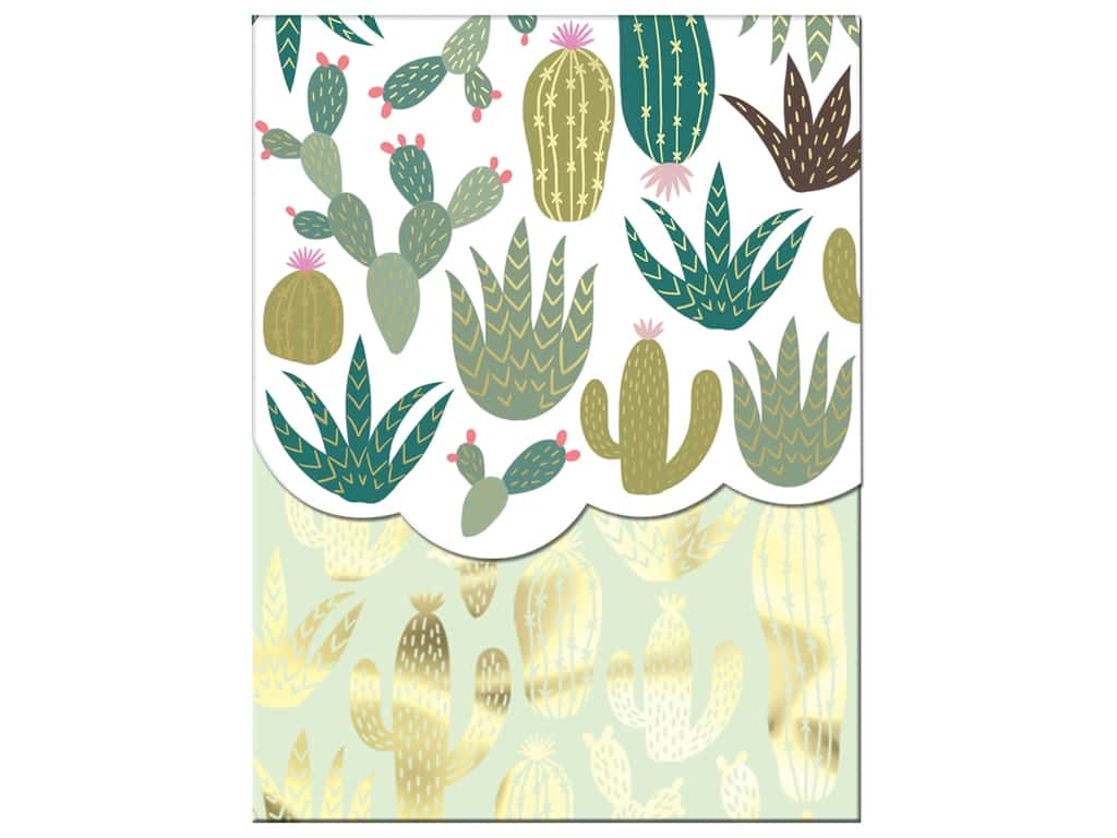 Molly & Rex Note Pocket Pad Folk Wonderland Cactus Plants