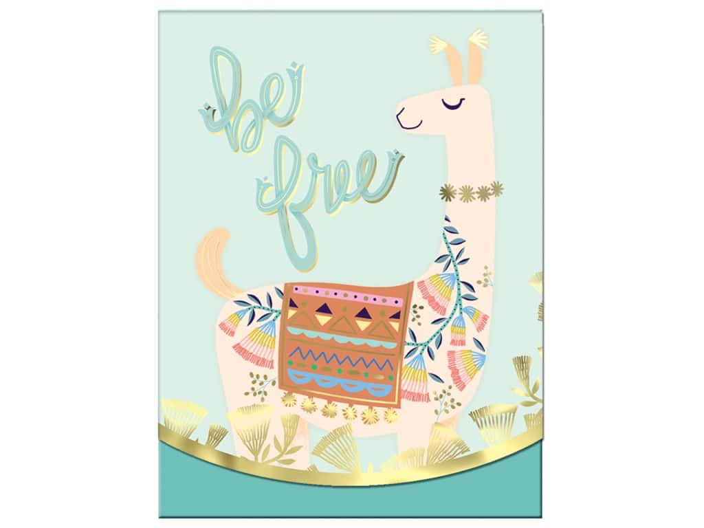 Molly & Rex Note Pocket Pad Folk Wonderland Be Free Llama