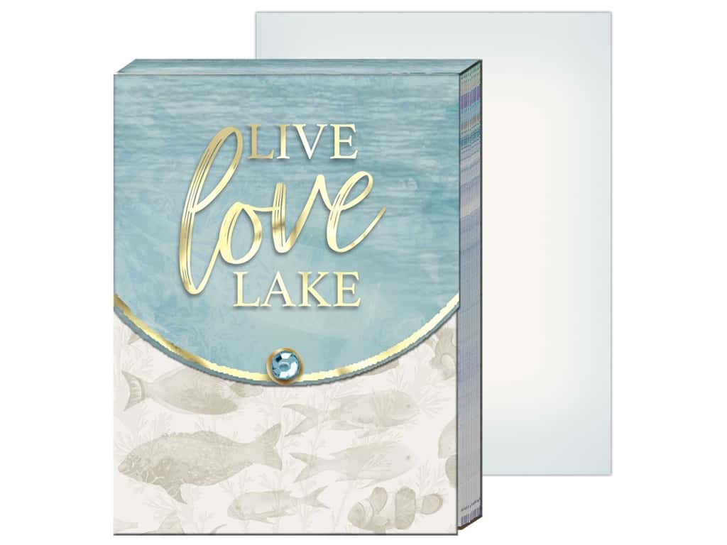 Punch Studio Note Pad Pocket Live Love Lake