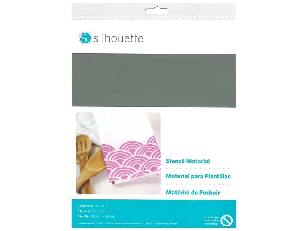 Silhouette Stencil Sheet 8.5 in. x 11 in. Non Adhesive 6 pc