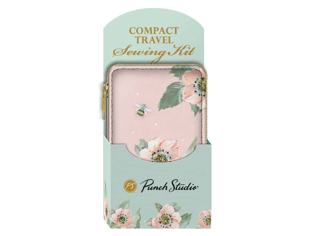 Punch Studio Sewing Kit Pink Floral Bee