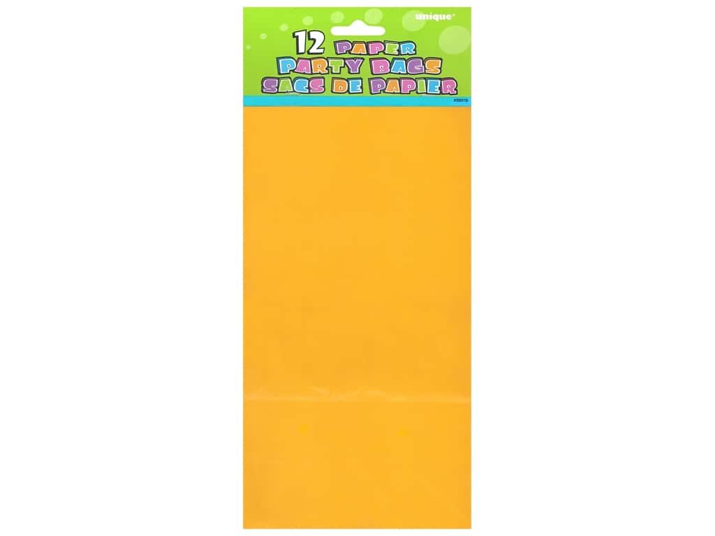 Unique Party Bags 12 pc. Yellow