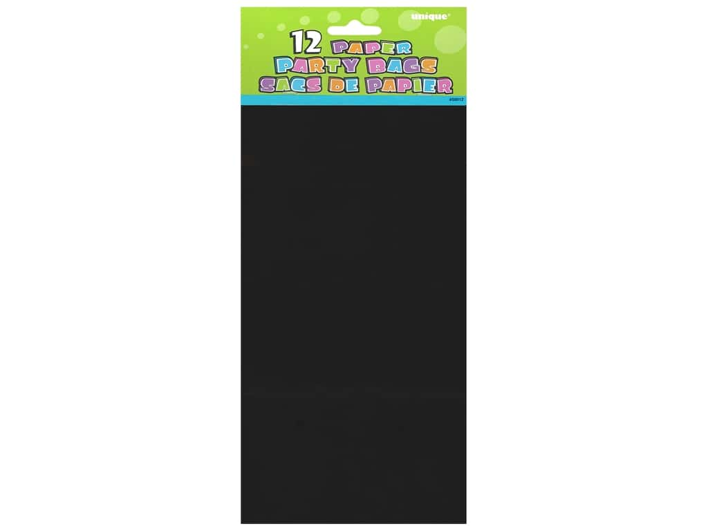 Unique Party Bags 12 pc. Black