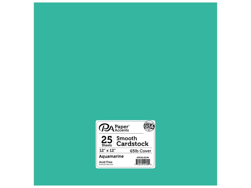 Paper Accents Cardstock 12 x 12 in. #189 Smooth Aquamarine 25 pc.