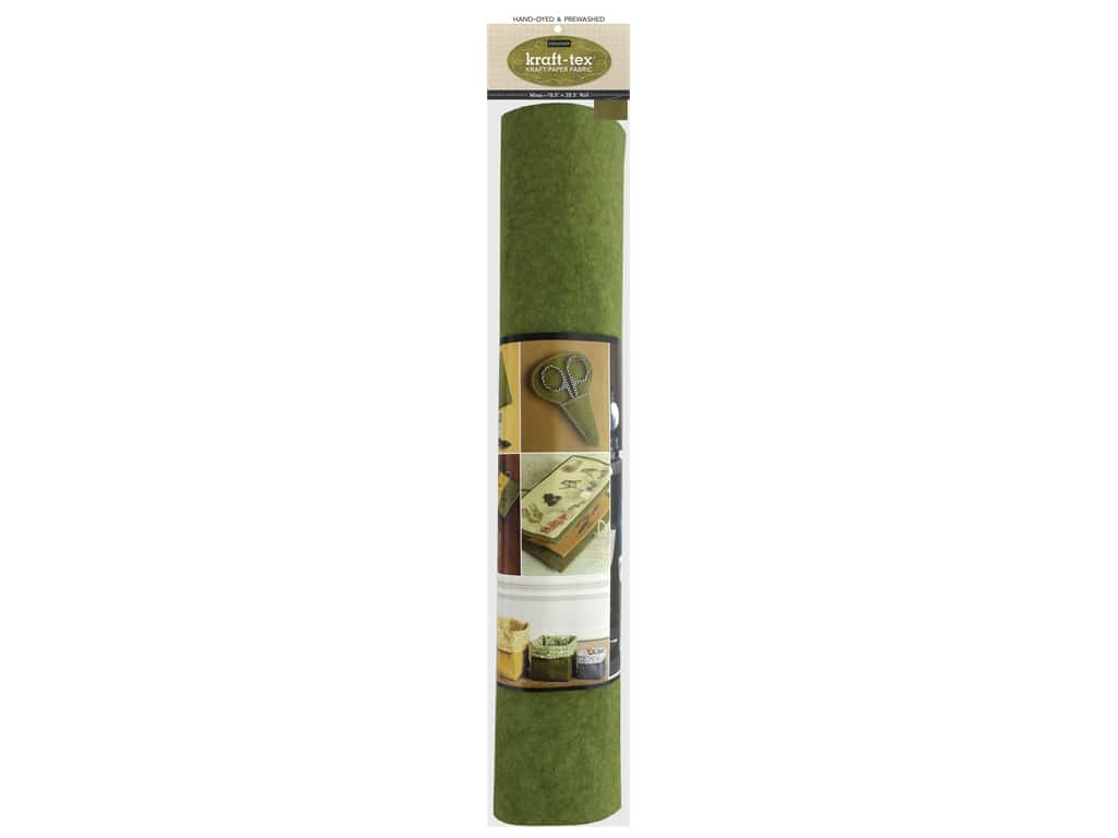C&T Publishing Kraft-Tex Paper Fabric Hand-Dyed & Prewashed Moss