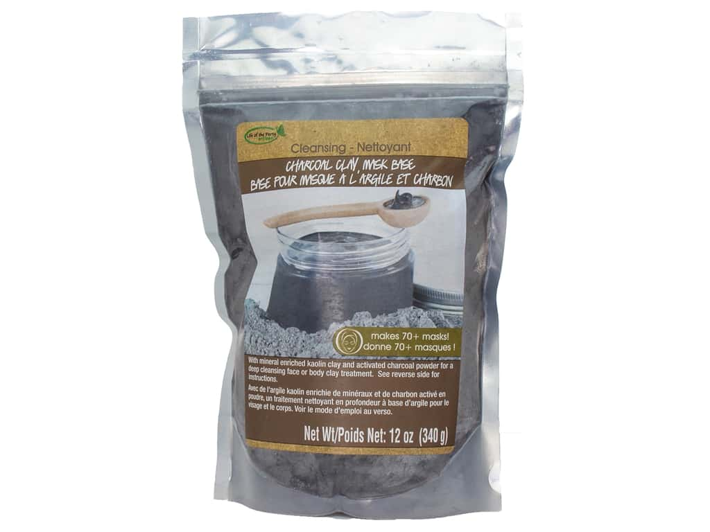 Life Of The Party Clay Mask Base 12 oz. Charcoal Cleaning