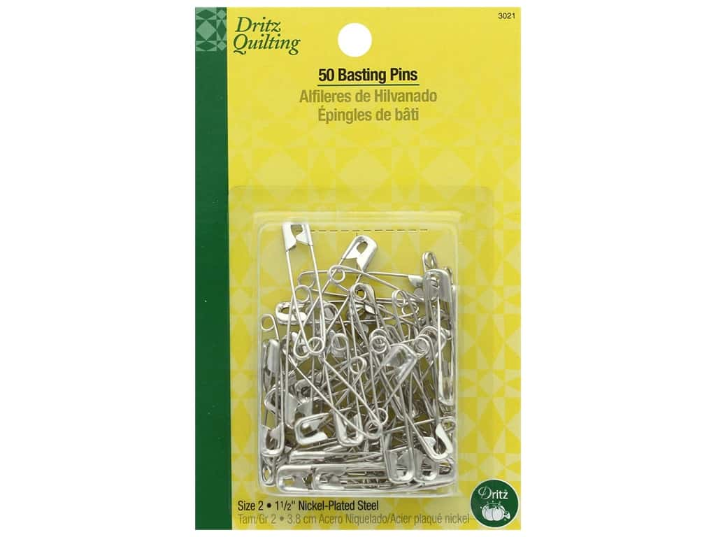 Dritz Safety Pins Quilting Basting Size 2 50 pc