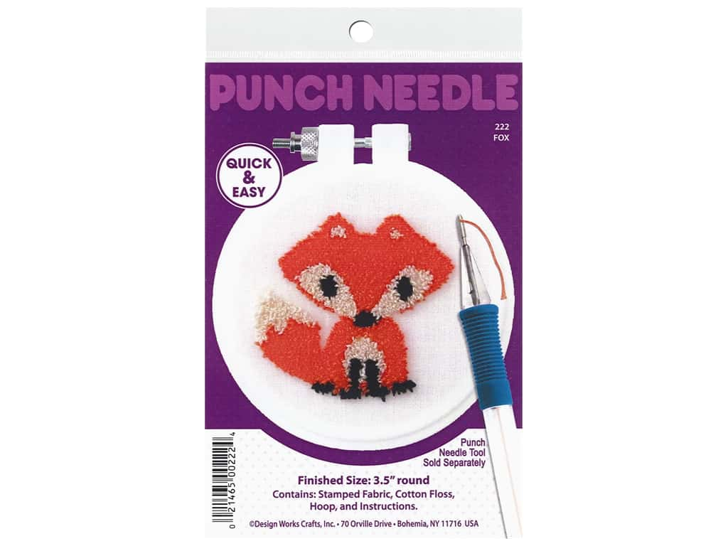 Design Works Kit Punch Needle 3.5 in. Fox