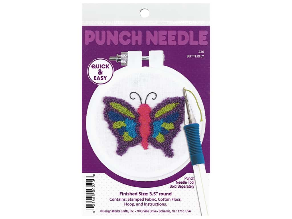 Design Works Kit Punch Needle 3.5 in. Butterfly