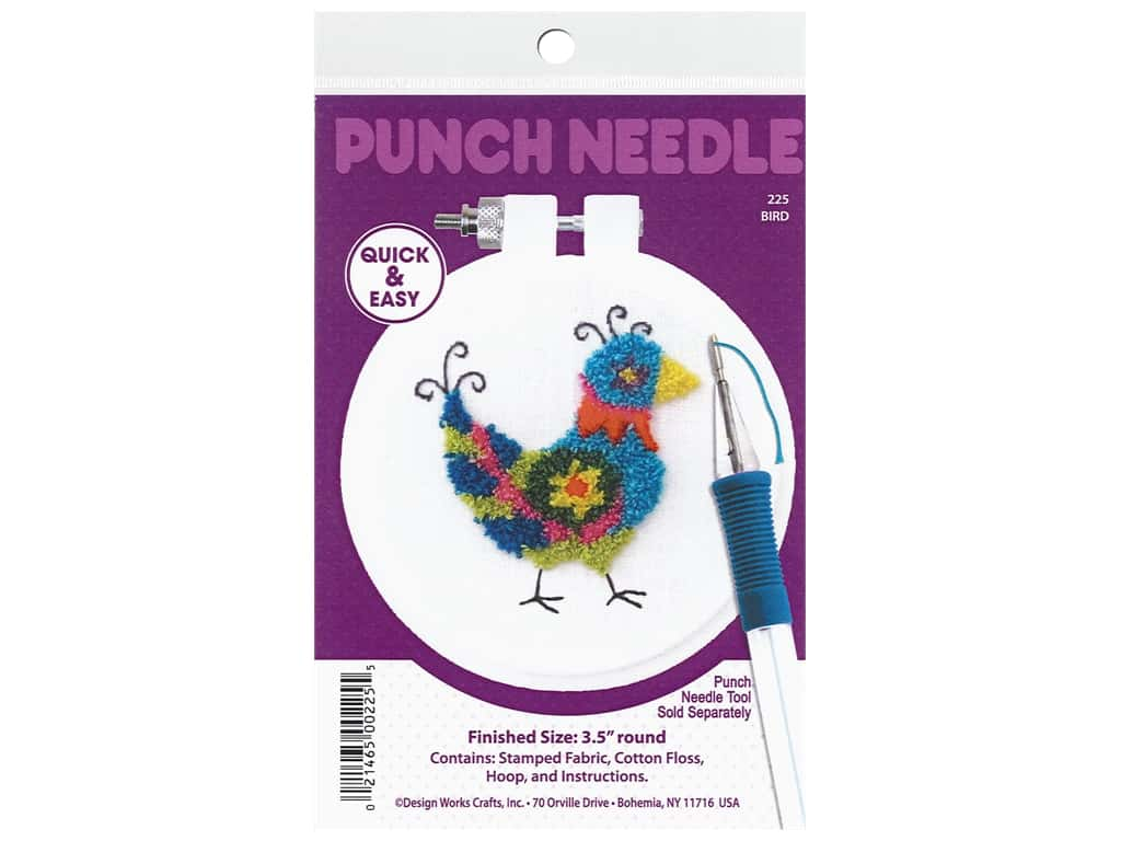 Design Works Kit Punch Needle 3.5 in. Bird