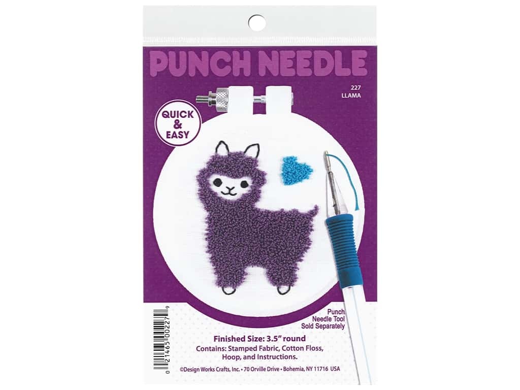 Design Works Kit Punch Needle 3.5 in. Llama