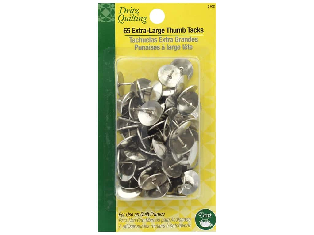 Dritz Quilting Thumb Tacks Extra Large Head 65 pc