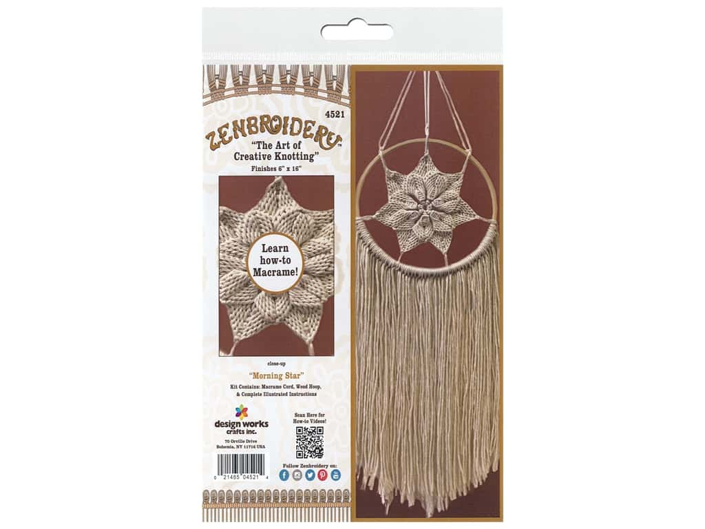 Design Works Kit Zenbroidery Macrame Morning Star