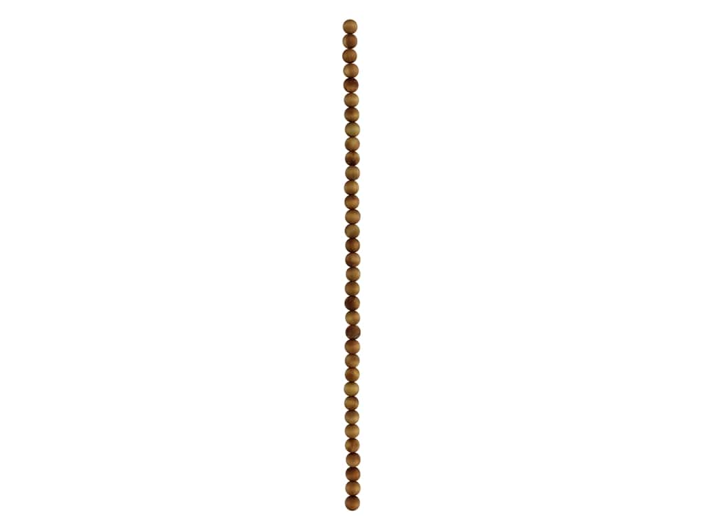 John Bead Wood Bead 8 in. Cedar 6 mm Round Natural