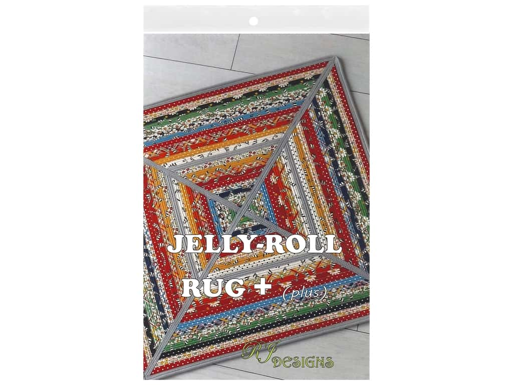 RJ Designs Jelly Roll Rug Plus Pattern