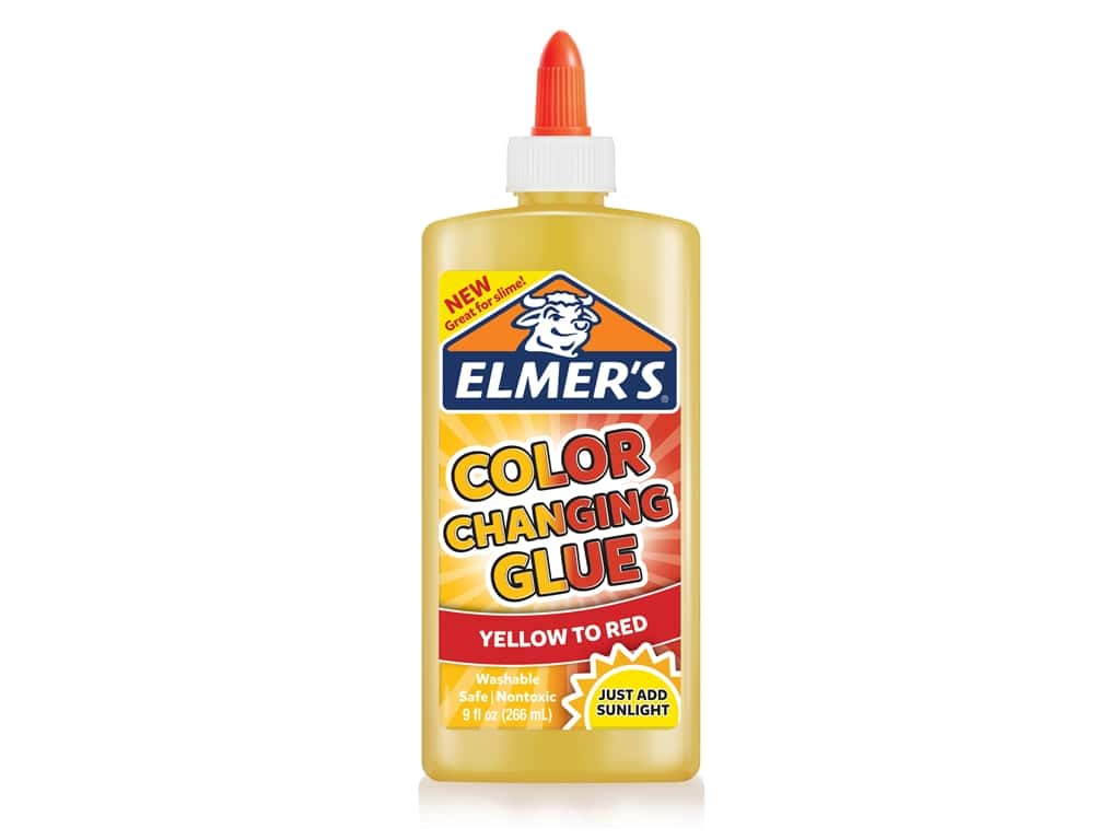 Elmer's Glues and Adhesives Color Changing Yellow To Red 9 oz