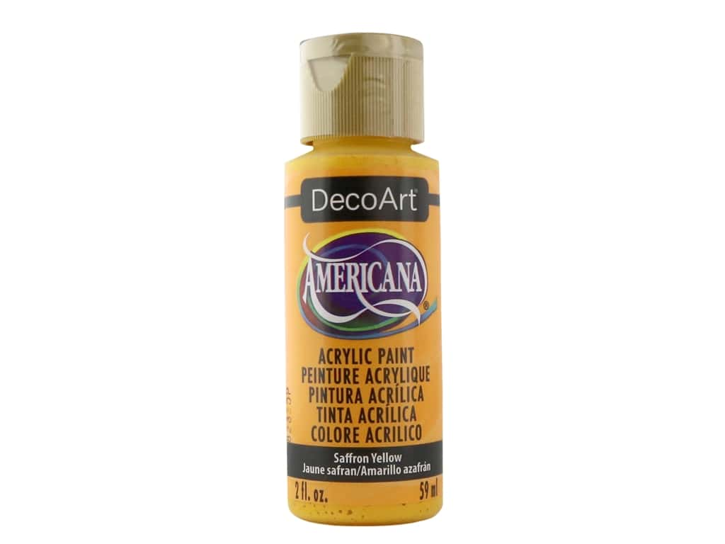 DecoArt Americana Acrylic Paint 2 oz. #273 Saffron Yellow