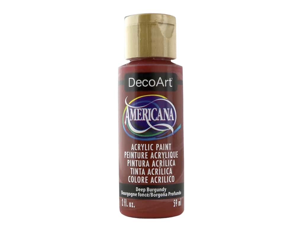 DecoArt Americana Acrylic Paint - #128 Deep Burgundy 2 oz.