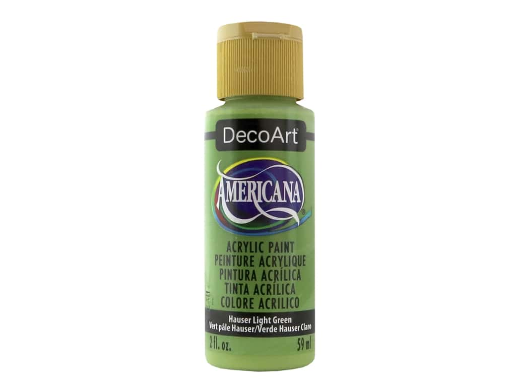 DecoArt Americana Acrylic Paint 2 oz. #131 Hauser Light Green