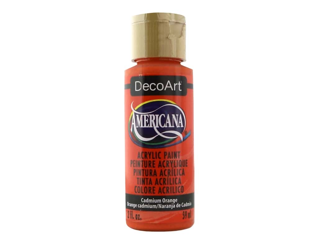 DecoArt Americana Acrylic Paint 2 oz. #014 Cadmium Orange