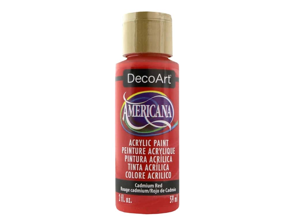 DecoArt Americana Acrylic Paint - #015 Cadmium Red 2 oz.