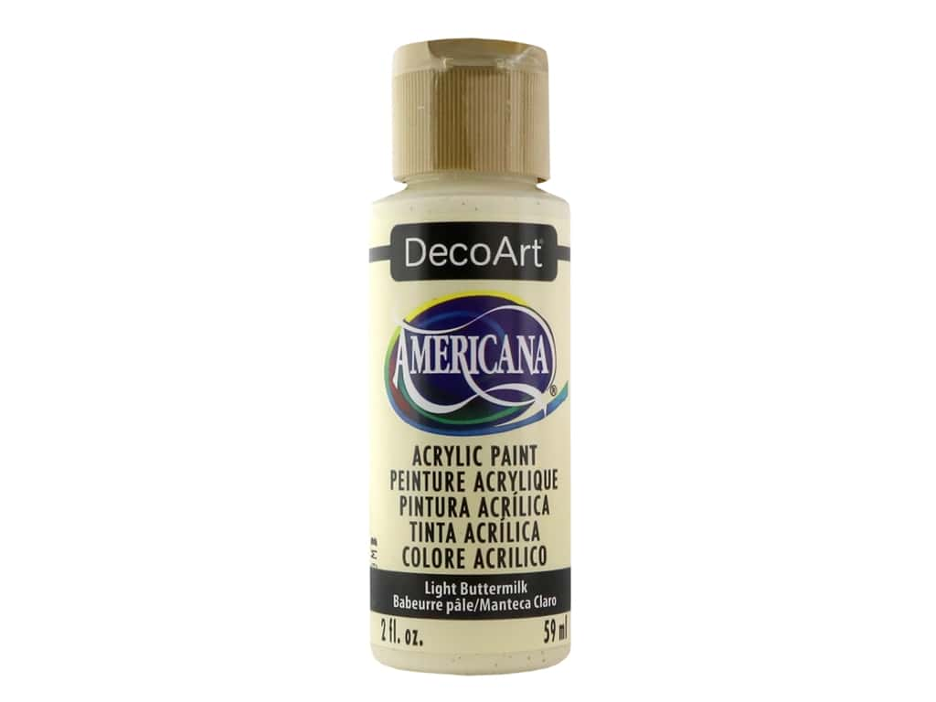 DecoArt Americana Acrylic Paint 2 oz. #164 Light Buttermilk