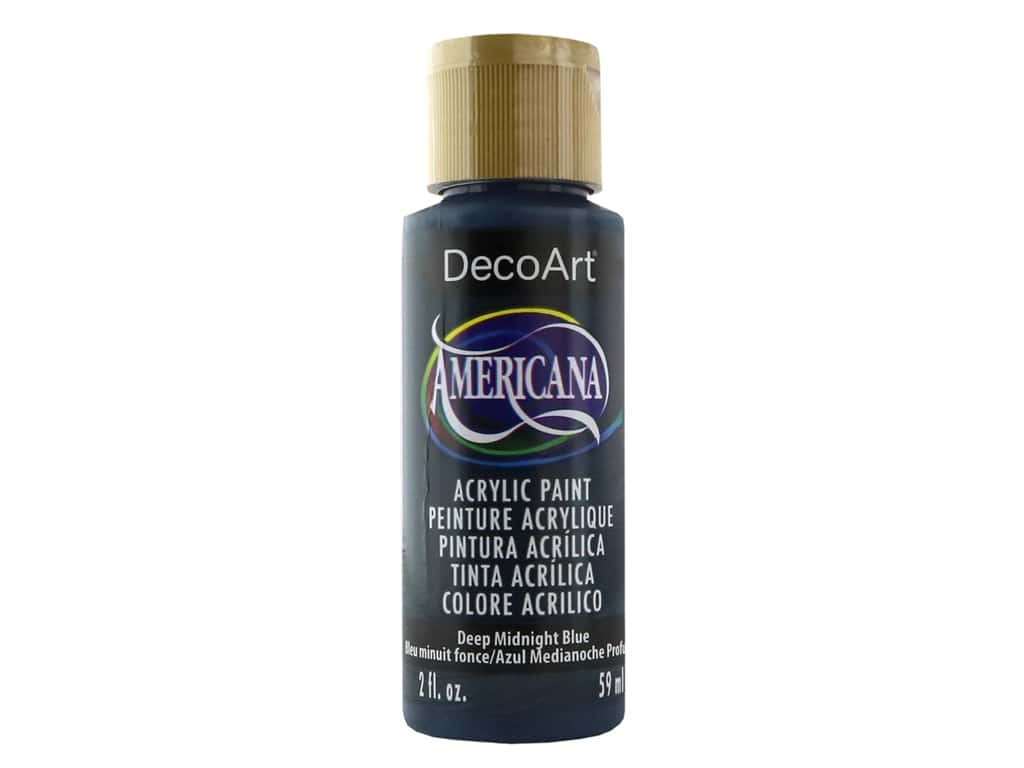 DecoArt Americana Acrylic Paint 2 oz. #166 Deep Midnight Blue
