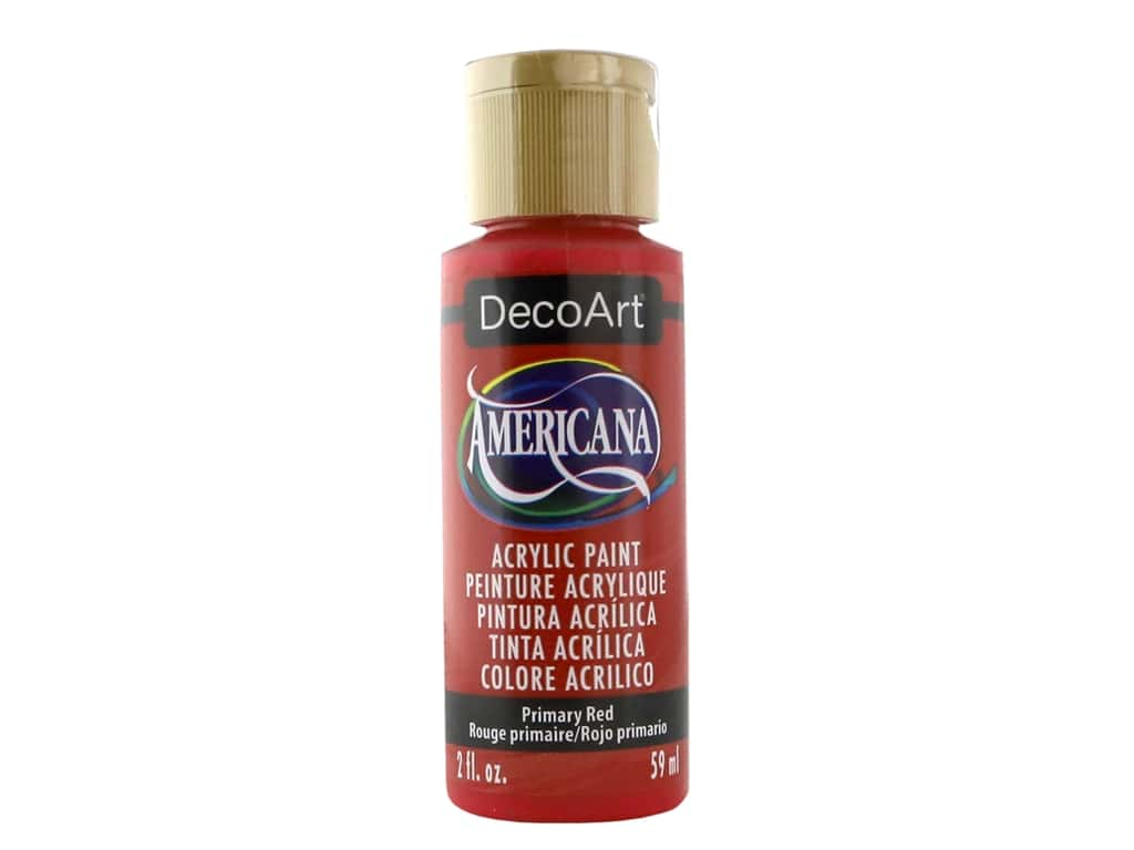 DecoArt Americana Acrylic Paint - #199 Primary Red 2 oz.