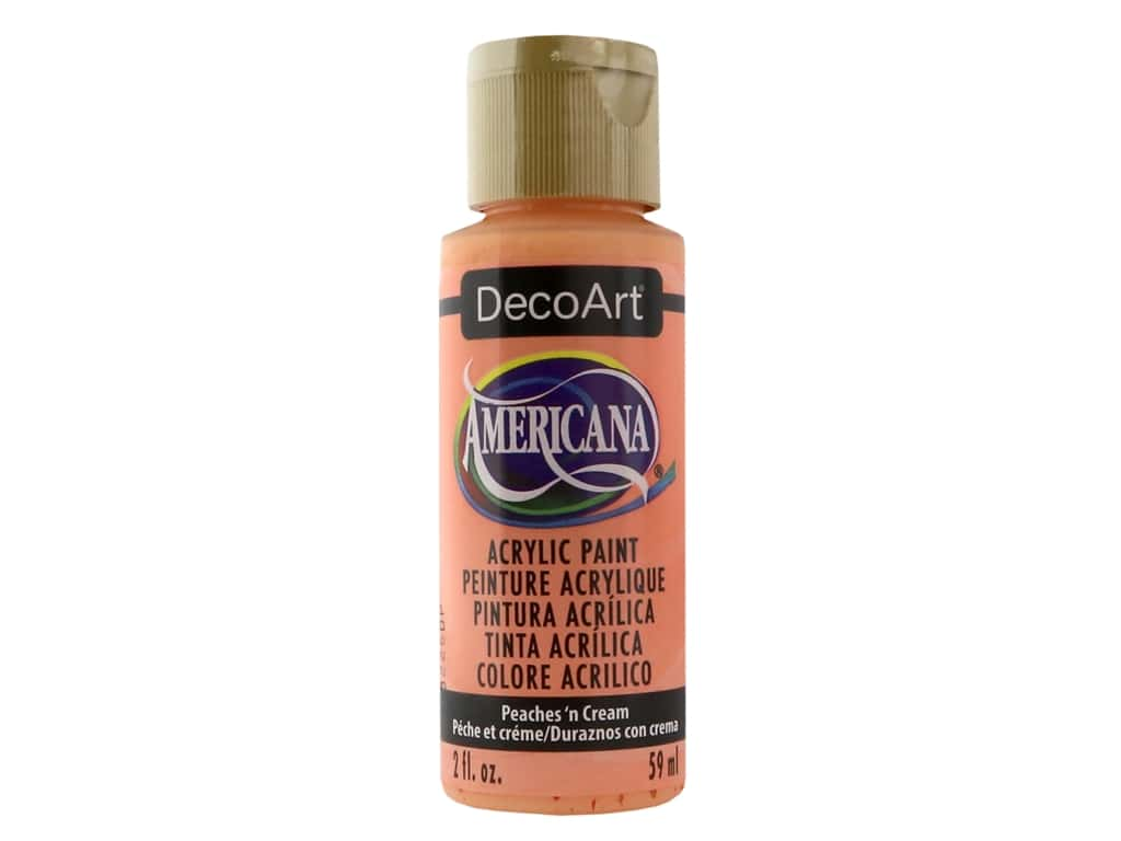 DecoArt Americana Acrylic Paint - #023 Peaches N' Cream 2 oz.