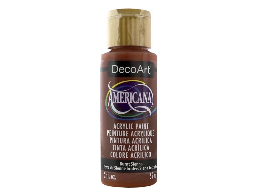 DecoArt Americana Acrylic Paint 2 oz. #063 Burnt Sienna
