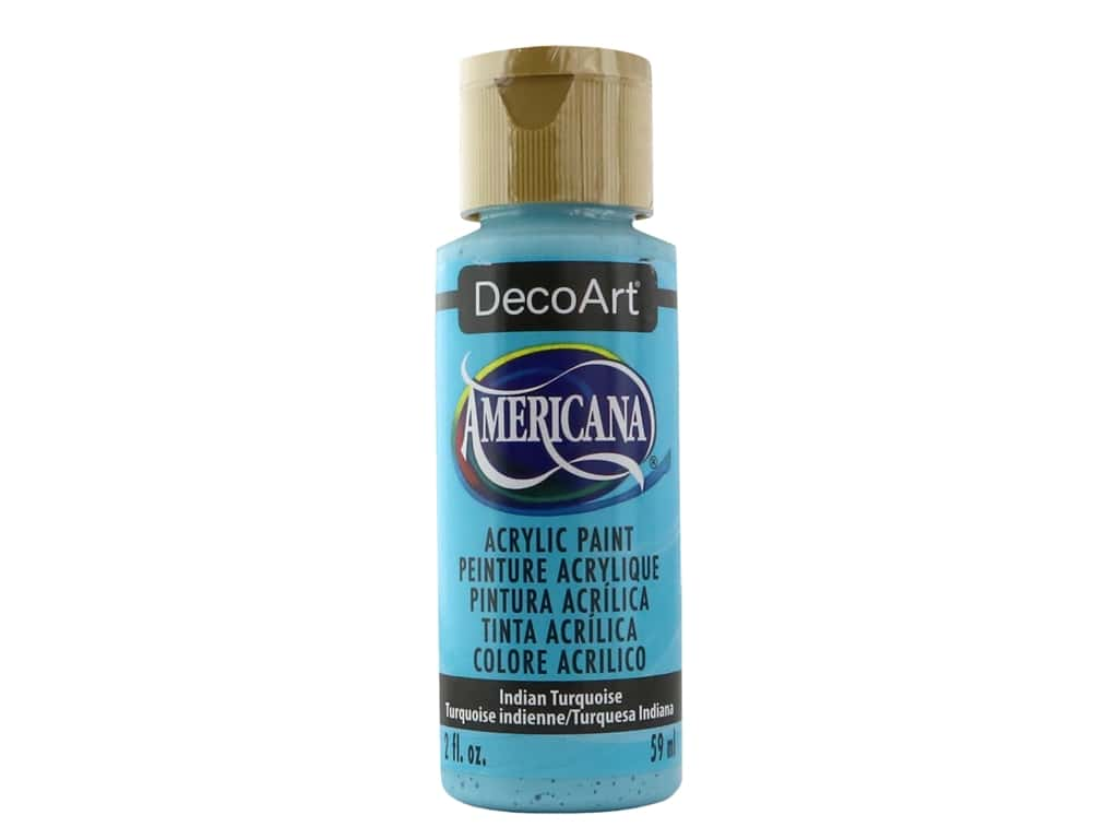 DecoArt Americana Acrylic Paint 2 oz. #087 Indian Turquoise
