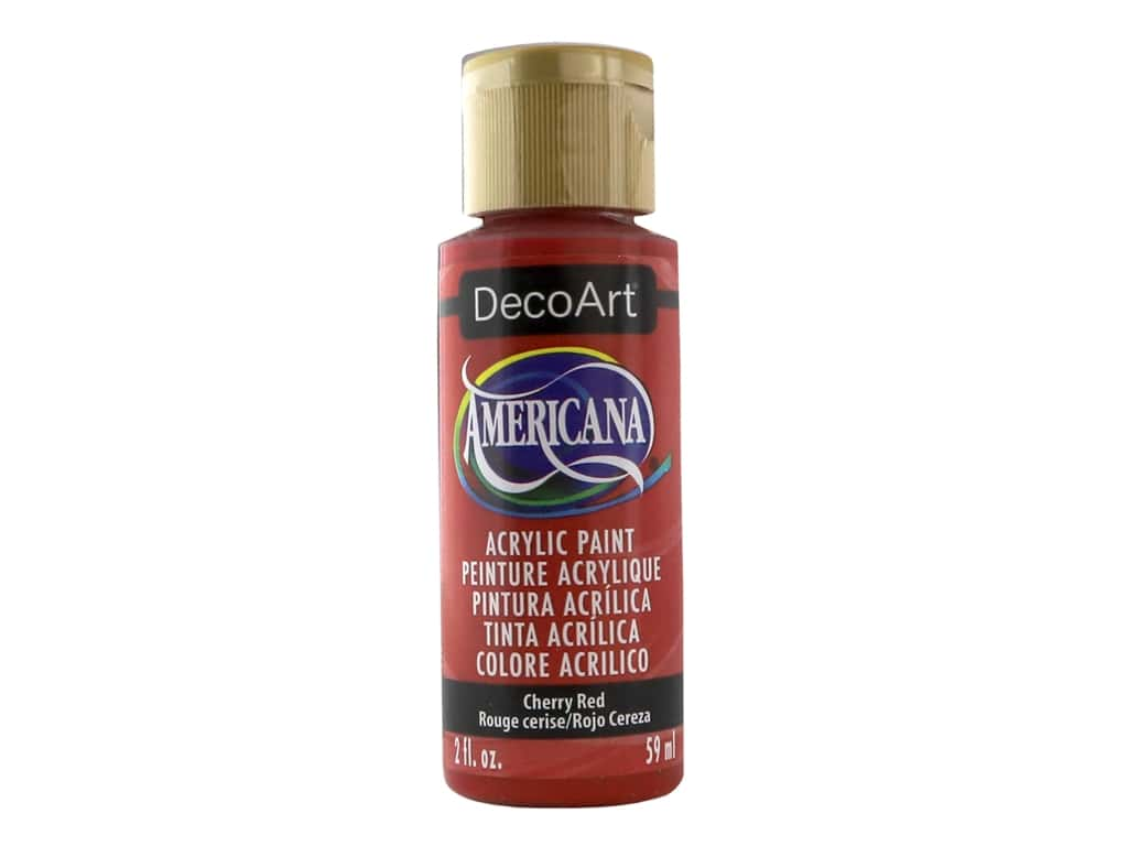 DecoArt Americana Acrylic Paint - #159 Cherry Red 2 oz.