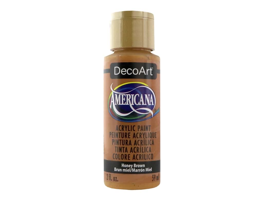 DecoArt Americana Acrylic Paint 2 oz. #163 Honey Brown