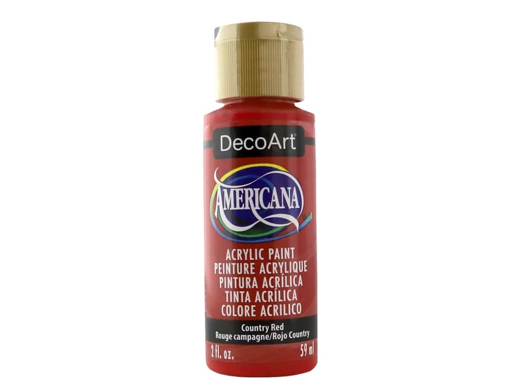 DecoArt Americana Acrylic Paint - #018 Country Red 2 oz.