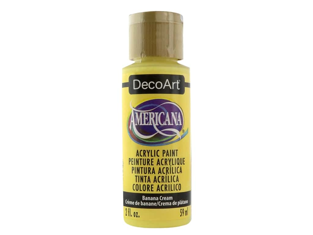 DecoArt Americana Acrylic Paint 2 oz. #309 Banana Cream