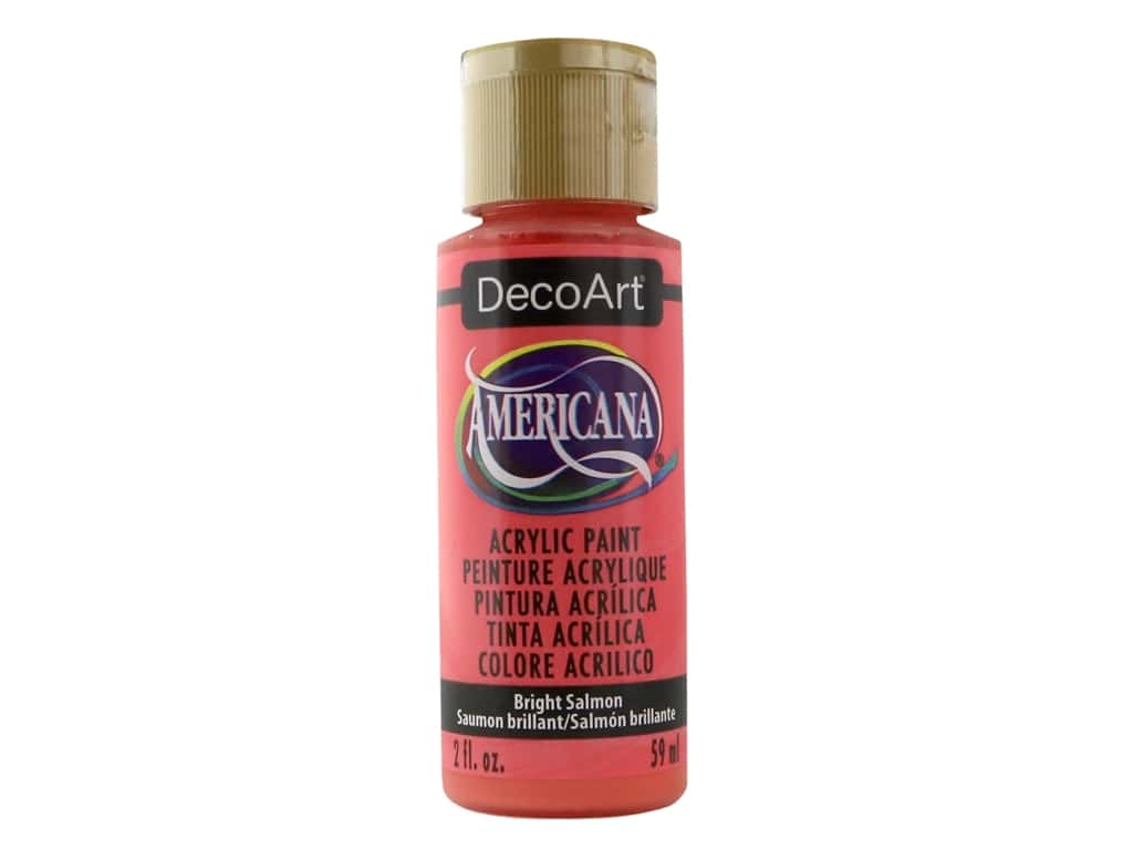 DecoArt Americana Acrylic Paint - #329 Bright Salmon 2 oz.