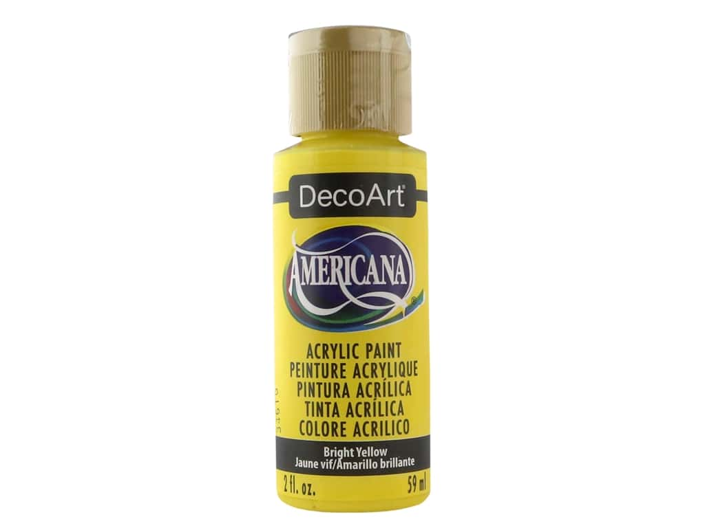 DecoArt Americana Acrylic Paint - #227 Bright Yellow 2 oz.