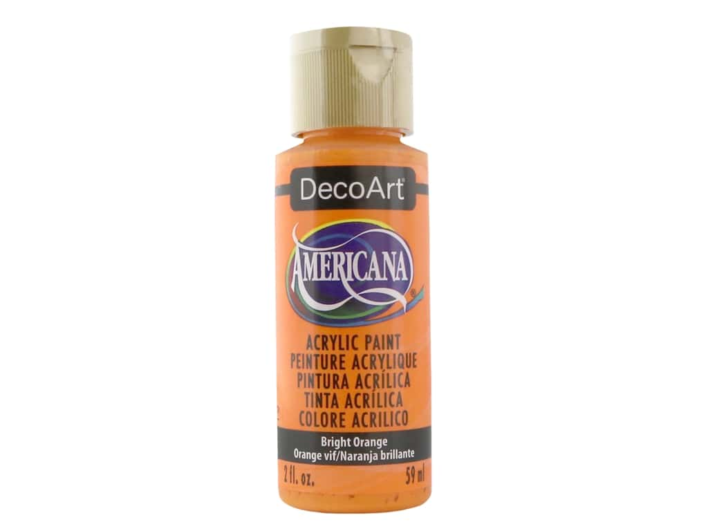 DecoArt Americana Acrylic Paint 2 oz. #228 Bright Orange