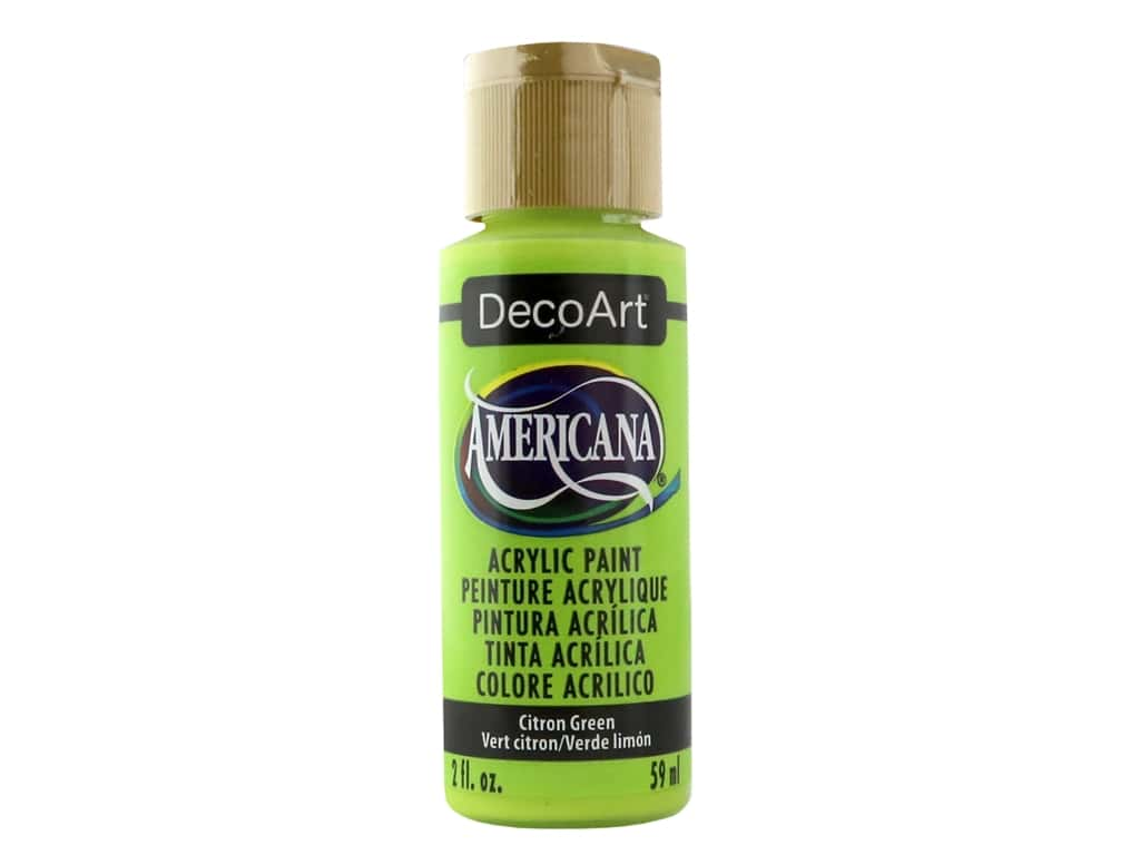 DecoArt Americana Acrylic Paint 2 oz. #235 Citron Green
