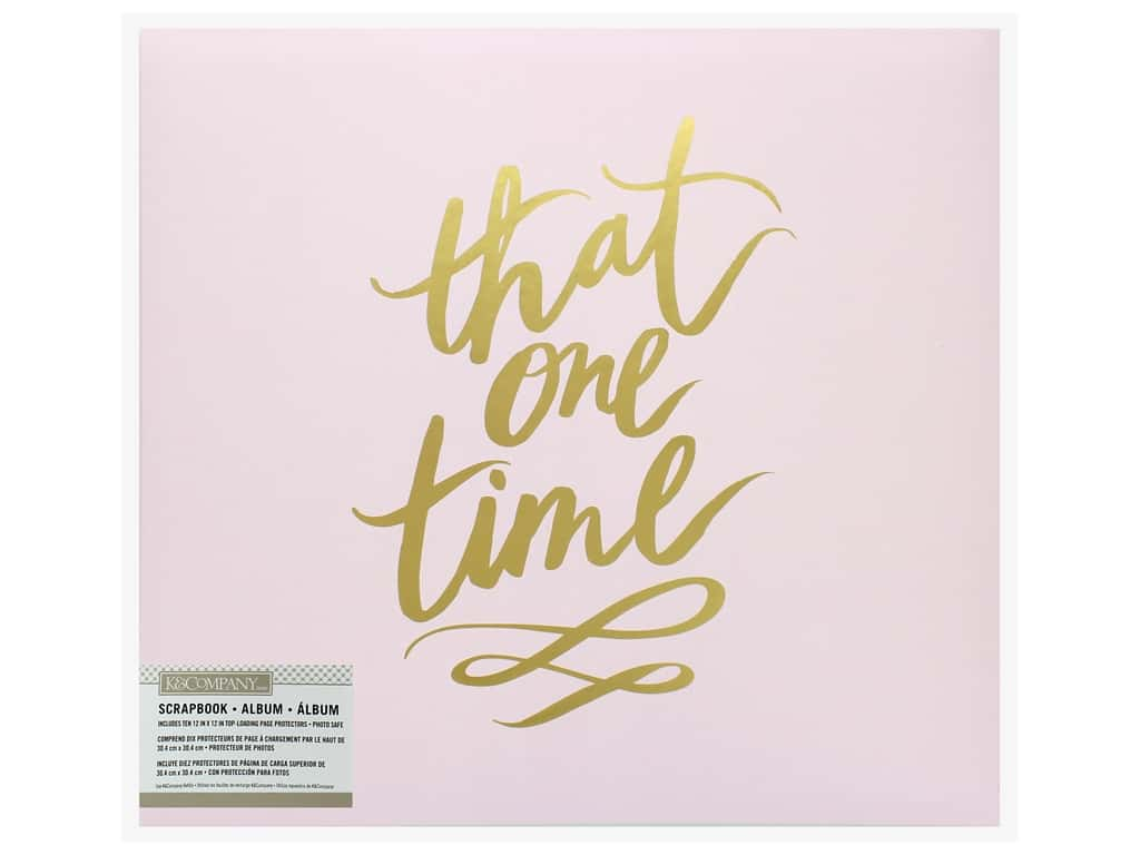 K&Company Scrapbook Album 12 in. x 12 in. Gold Foil That One Time