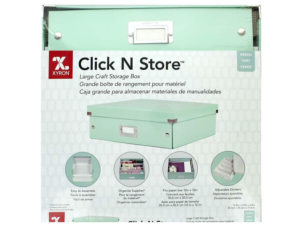 Xyron Click N Store Storage Box Large Mint Green