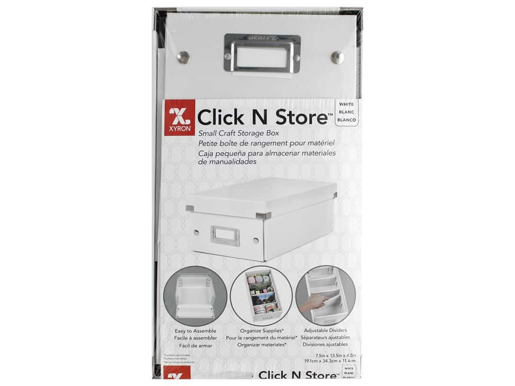 Xyron Click N Store Storage Box Small White