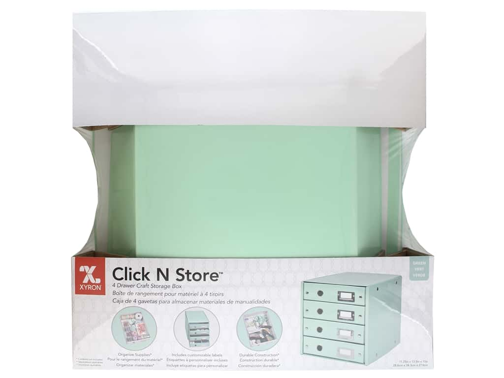 Xyron Click N Store 4 Drawer Storage Box - Mint