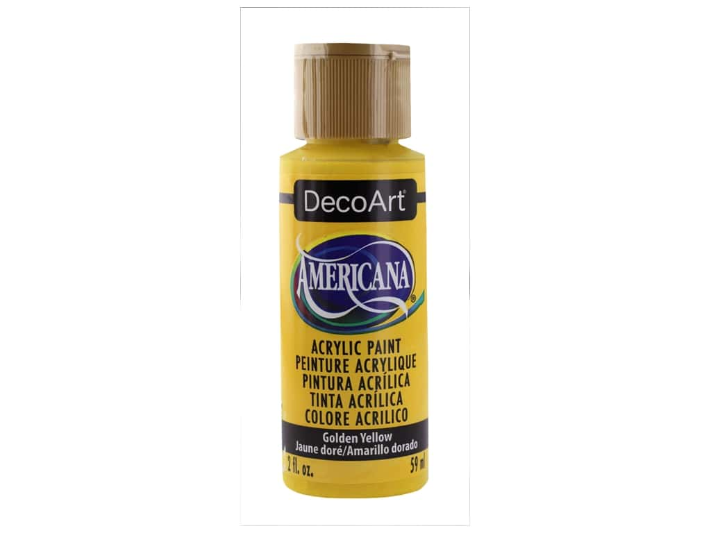 DecoArt Americana Acrylic Paint 2 oz Golden Yellow